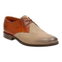 Men's Clarks Hawkley Walk Two Tone Shoe Wolf Combi