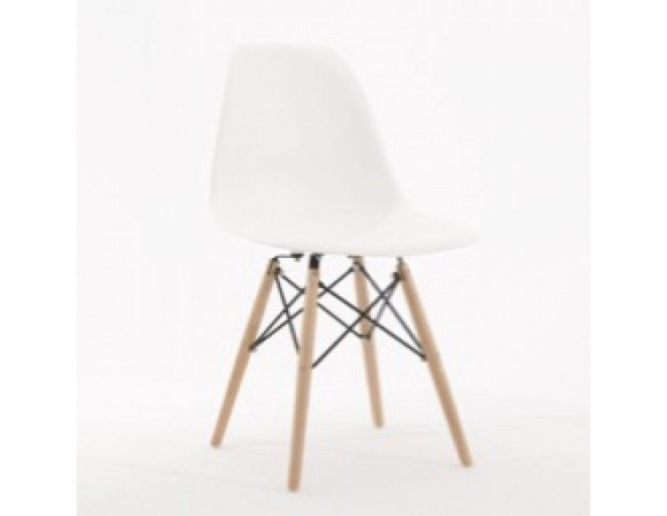 Sensational Eiffel White Chair With Solid Beech Wood Legs Home Piano Dailytribune Chair Design For Home Dailytribuneorg
