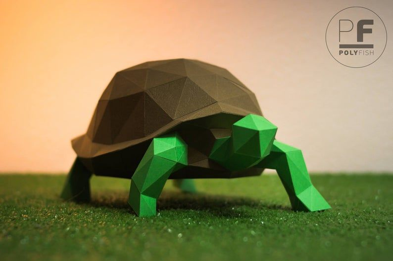 Photo of Turtle (paper turtle, origami turtle, papercraft)