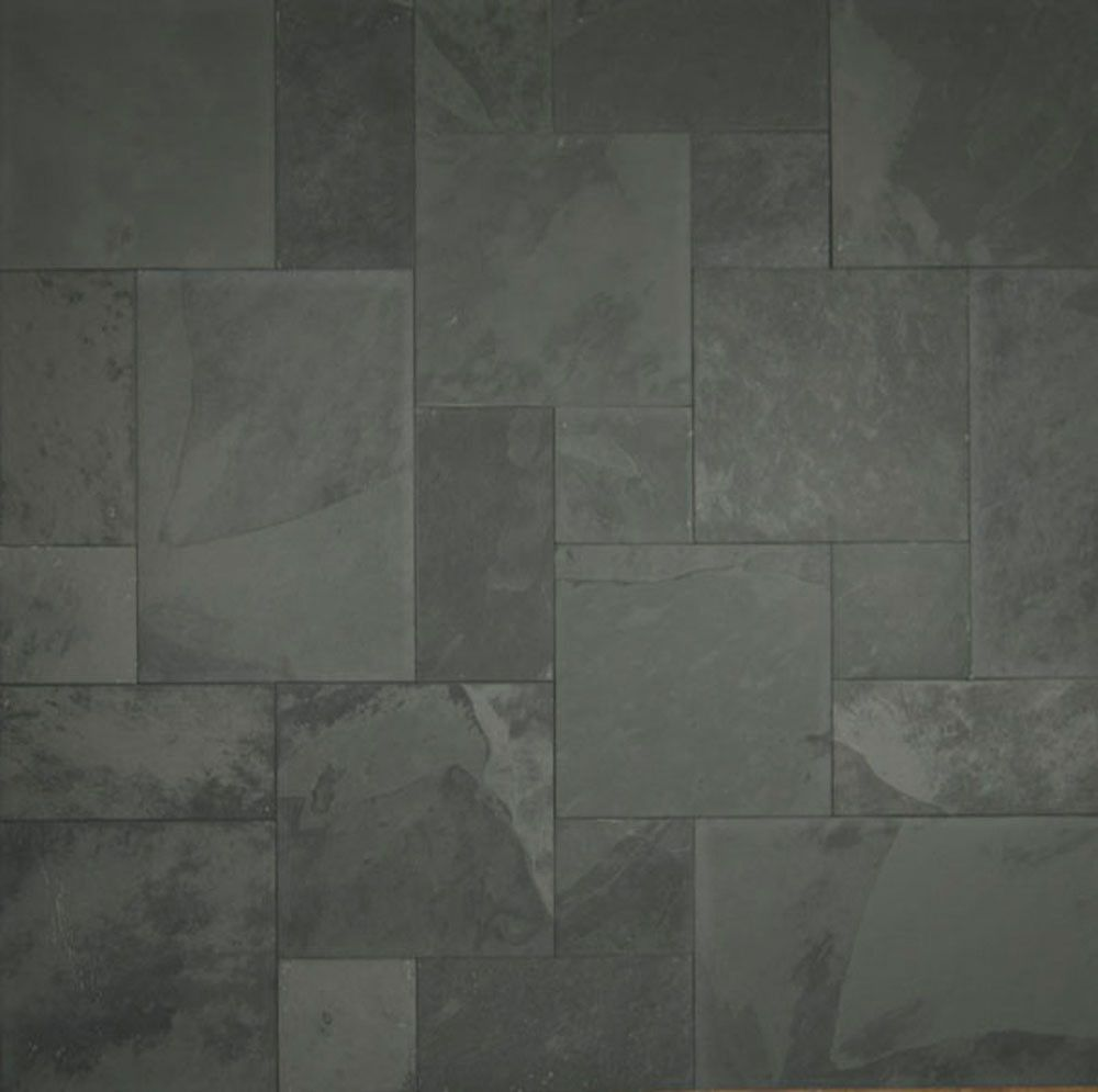 Gray Slate Kitchen Floor: Blueish/Pewter Grey : Blueish, Pewter Grey : SLTGRBLBR1616 - Bedrosians