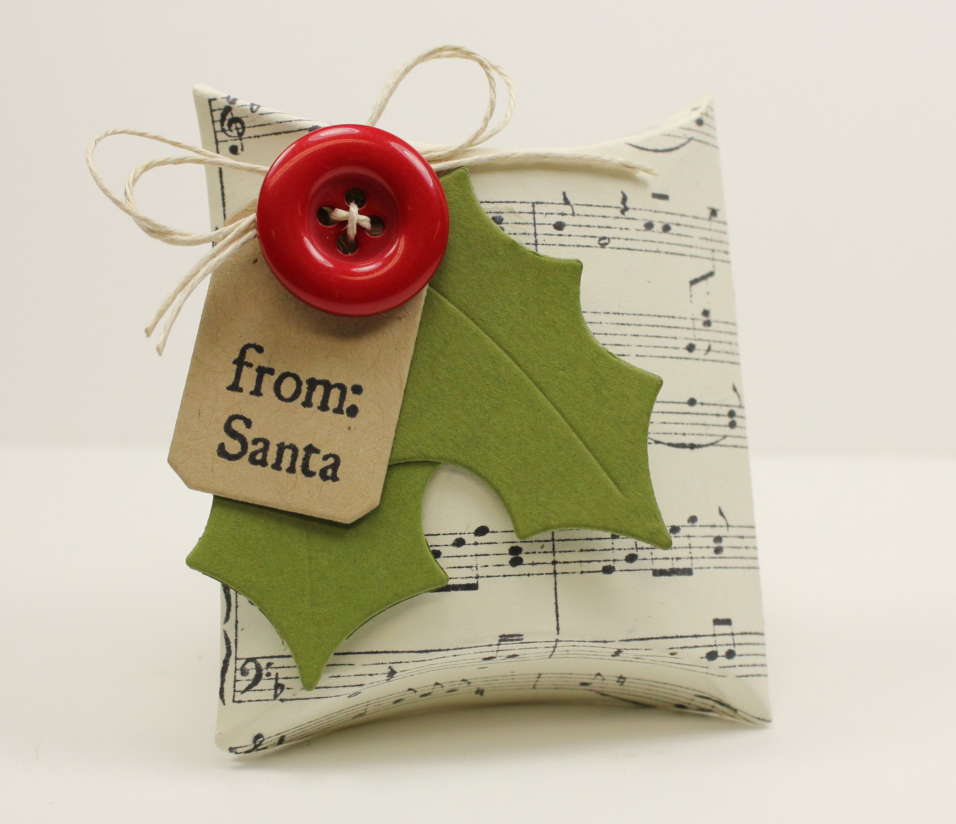 sheet music paper paper holly with berry buttons. Pillow box ... & Good Things Come in Small Packages | Gift Ideas | Pinterest | Gift ... pillowsntoast.com