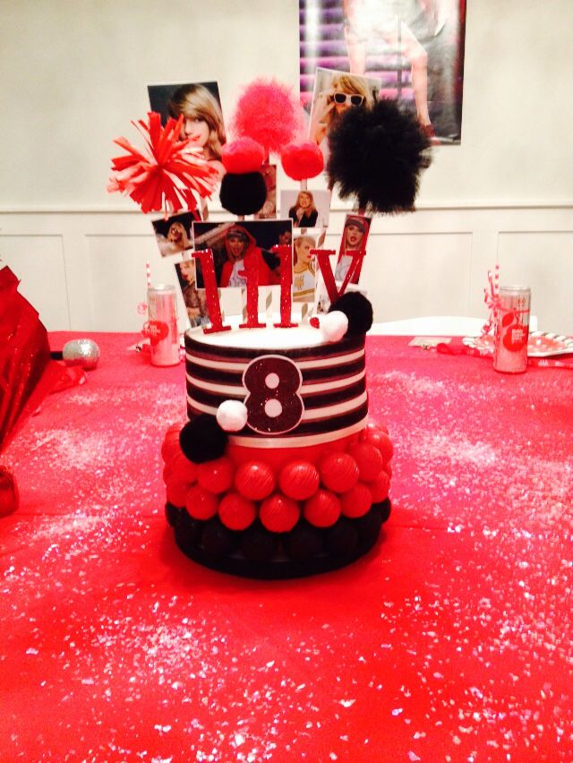 Taylor Swift Red Album Birthday Cake For My 8 Year Olds Birthday By