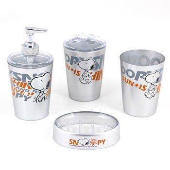 Snoopy 4 Piece Bathroom Set