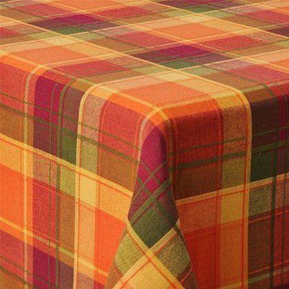 Amazon.com   Croft U0026 Barrow Sierra Plaid Tablecloth Fabric Autumn Orange Table  Cloth 70