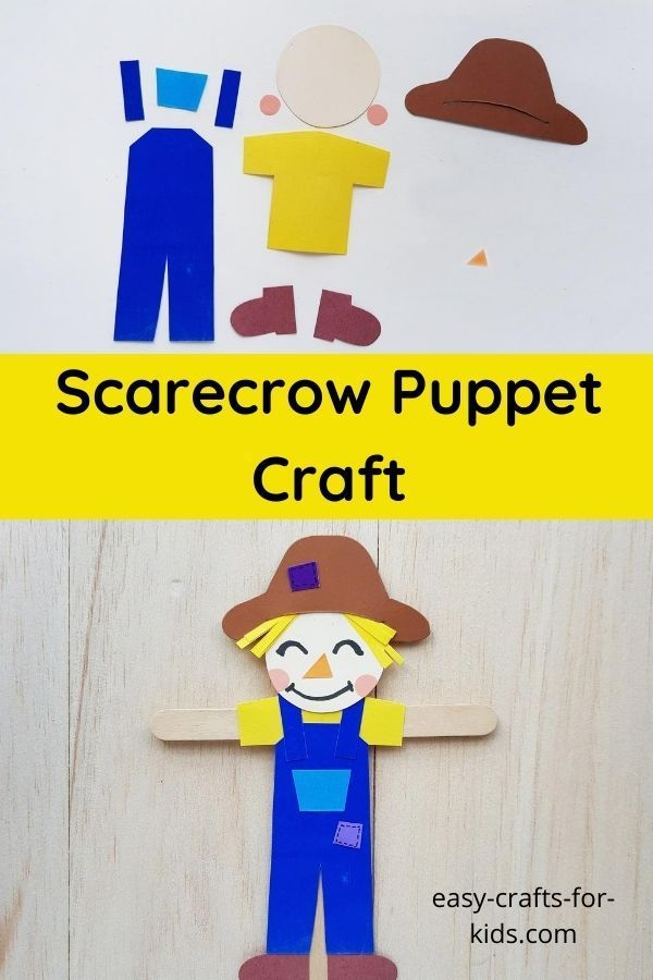 Scarecrow Puppet Craft with Popsicle stick in 2020 ...