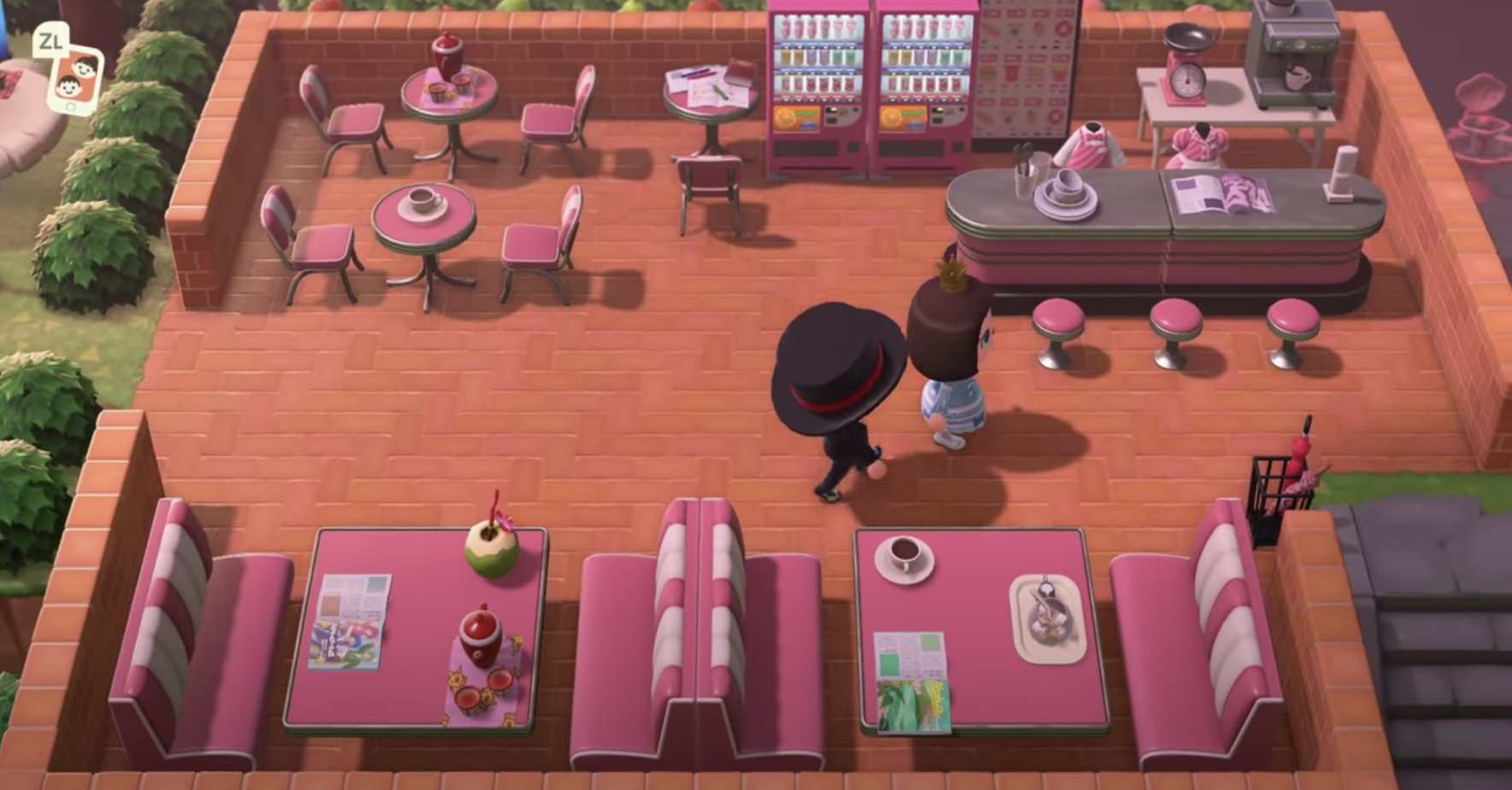 Acnh Outdoor Diner Animal Crossing Game New Animal Crossing Animal Crossing Wild World