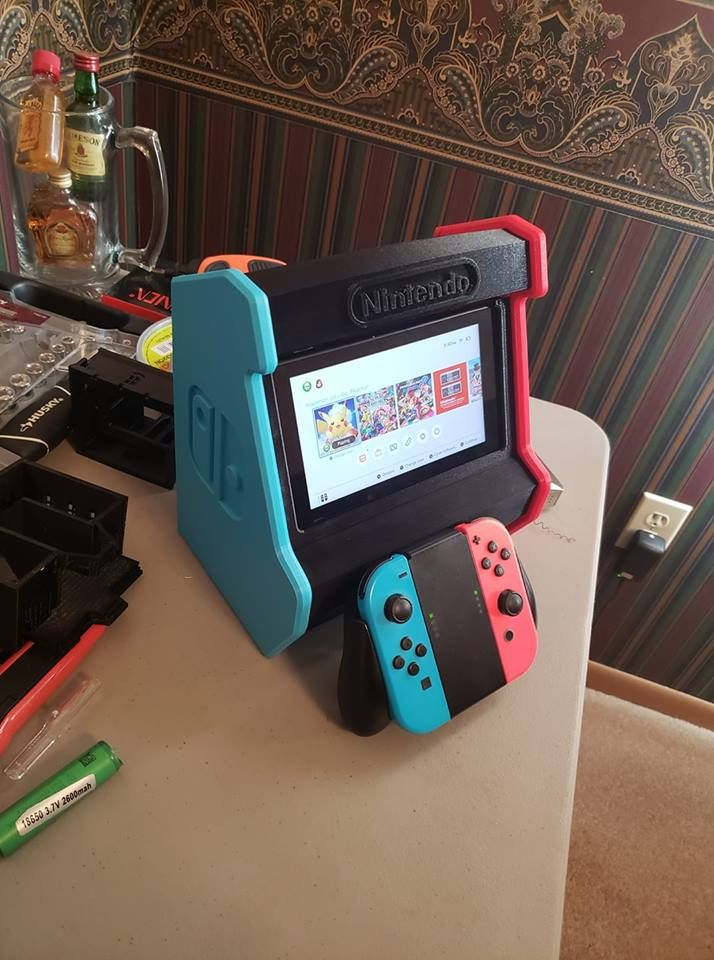 Nintendo Switch Arcade Cabinet By Concavechest Printed By