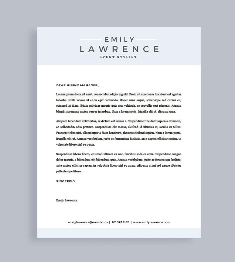 Modern Resume Template | Free Cover Letter | Resume for Word ...