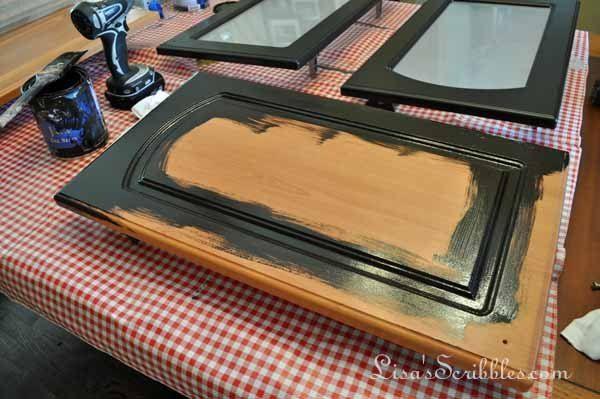 Attirant Painting Kitchen Cabinets · Staining Laminate ...