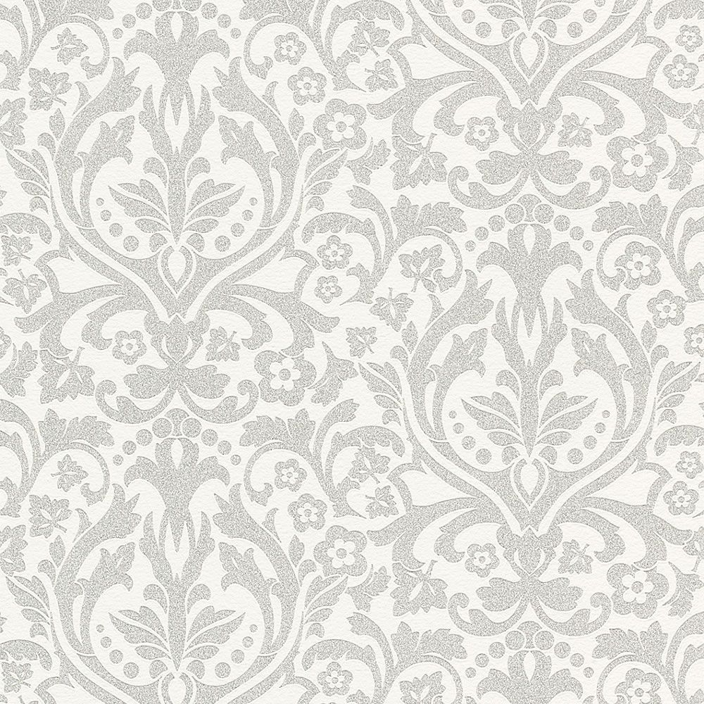 Silver Wallpaper For Bedrooms Rasch Glamour Paste The Wall Classical Feature With Glitters