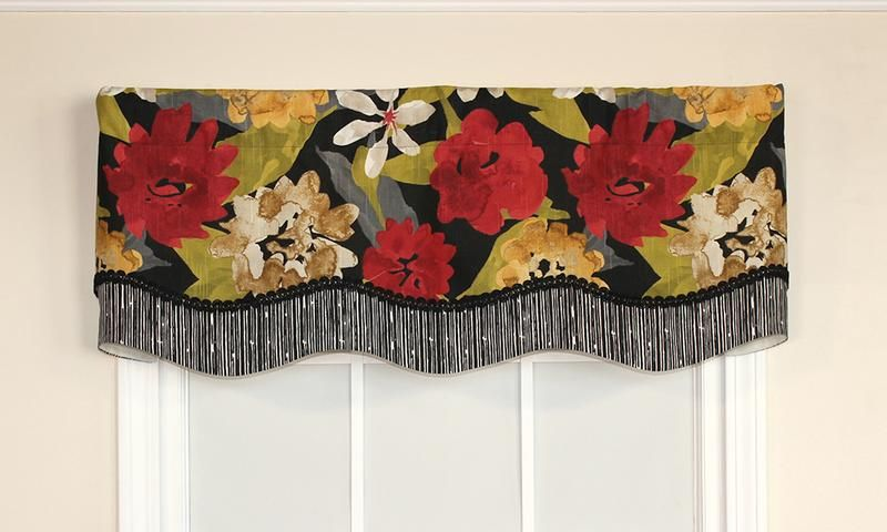 Garden Delight Glory Valance with coordinating underskirt   RLF Home