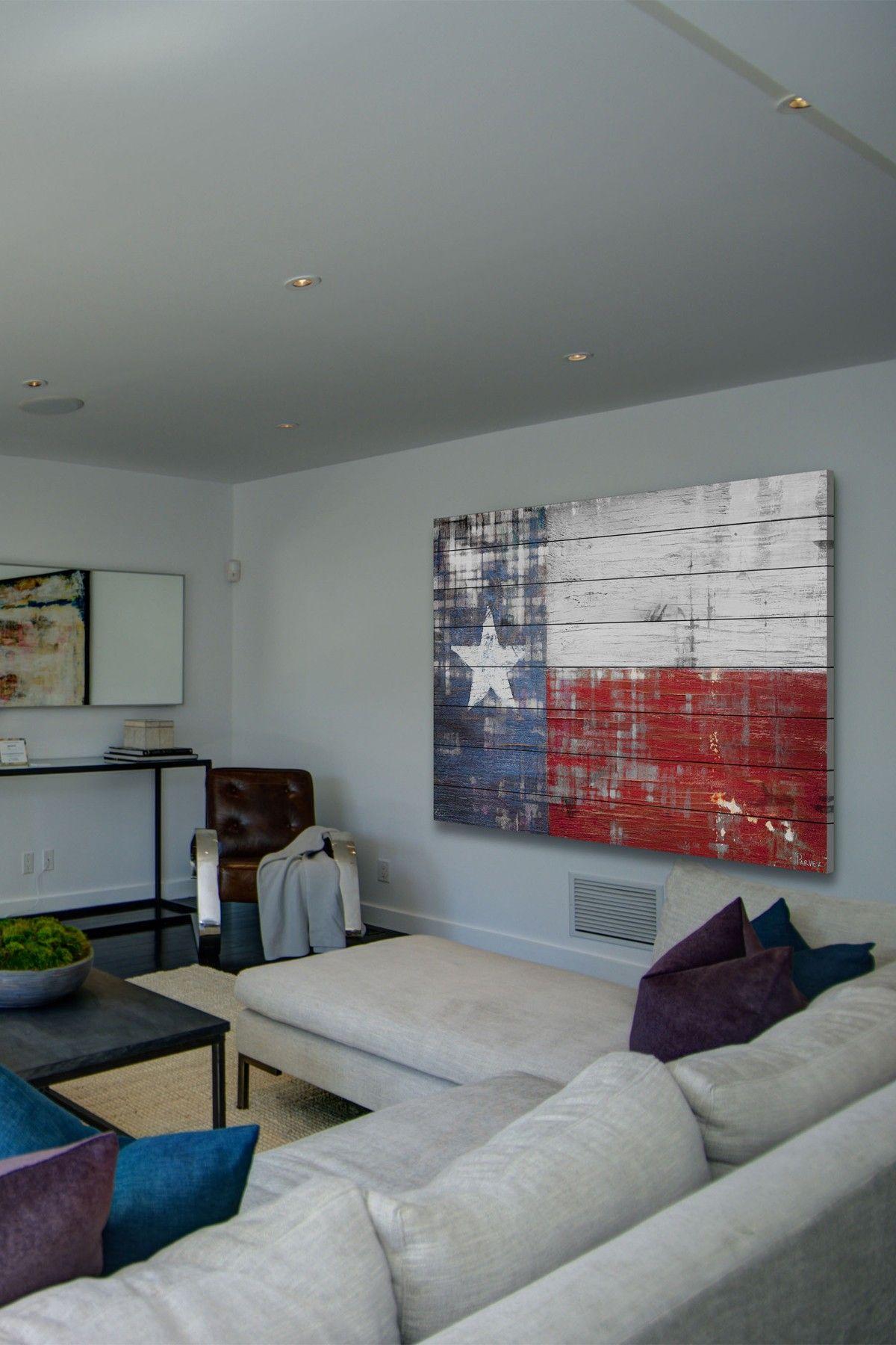 Texas Distressed White Wood Wall Art On @HauteLook