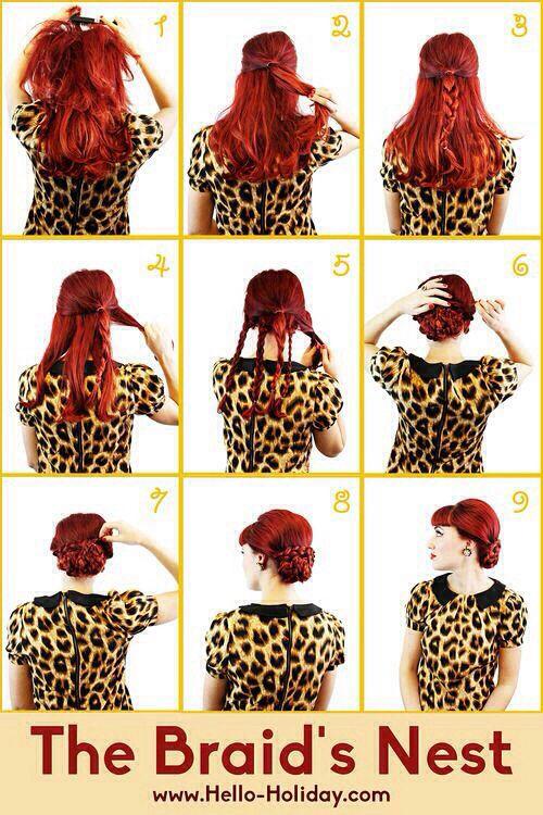 8 tutoriels pour une belle coiffure de pin up hair. Black Bedroom Furniture Sets. Home Design Ideas