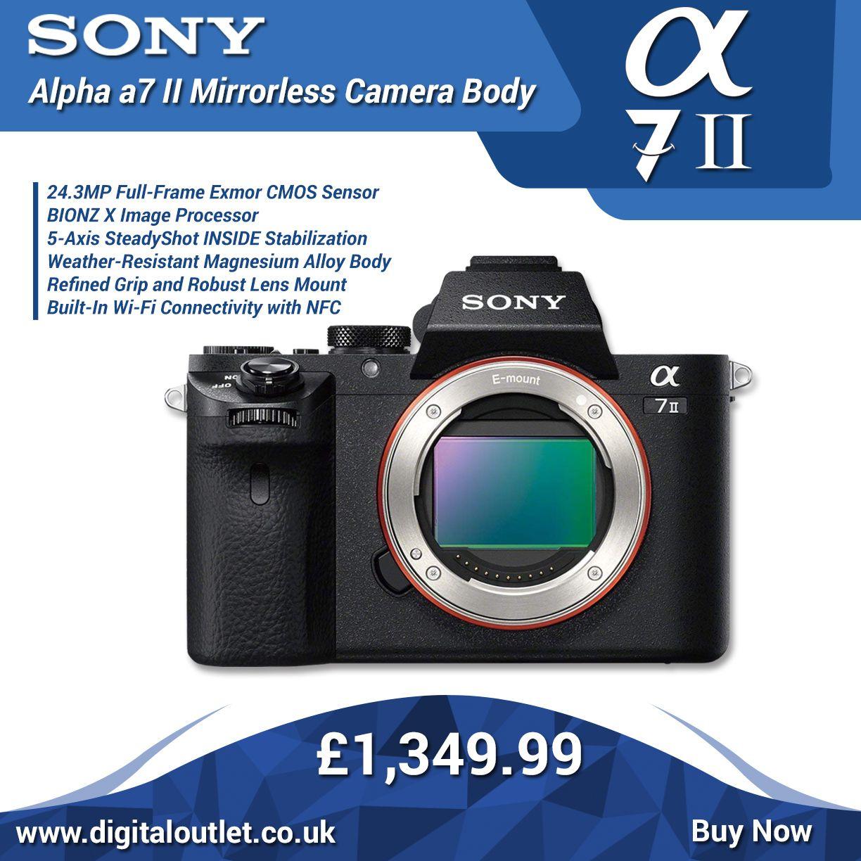 Sony Ilce7m2b Alpha A7 Ii E Mount 24 3mp Full Frame Mirrorless Camera Body Only Camera Digital Camera Cmos Sensor