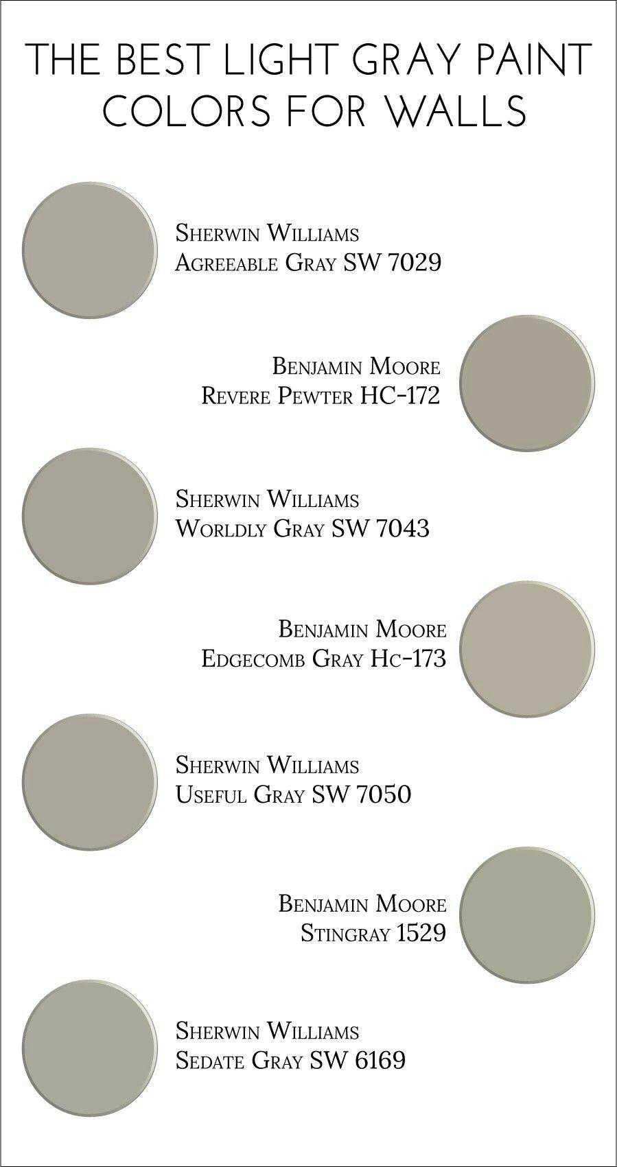 Best Light Grey Paint Colours