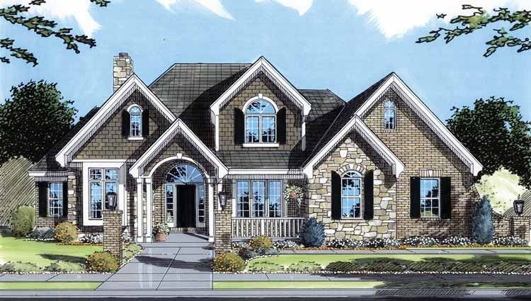 Traditional Style House Plan 4 Beds 3 5 Baths 2587 Sq Ft