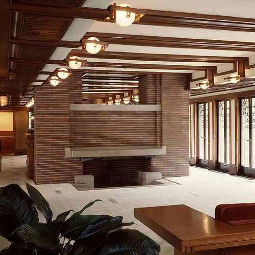 Robie House Fireplace Robie House Frank Lloyd Wright Architecture Frank Lloyd Wright Interior