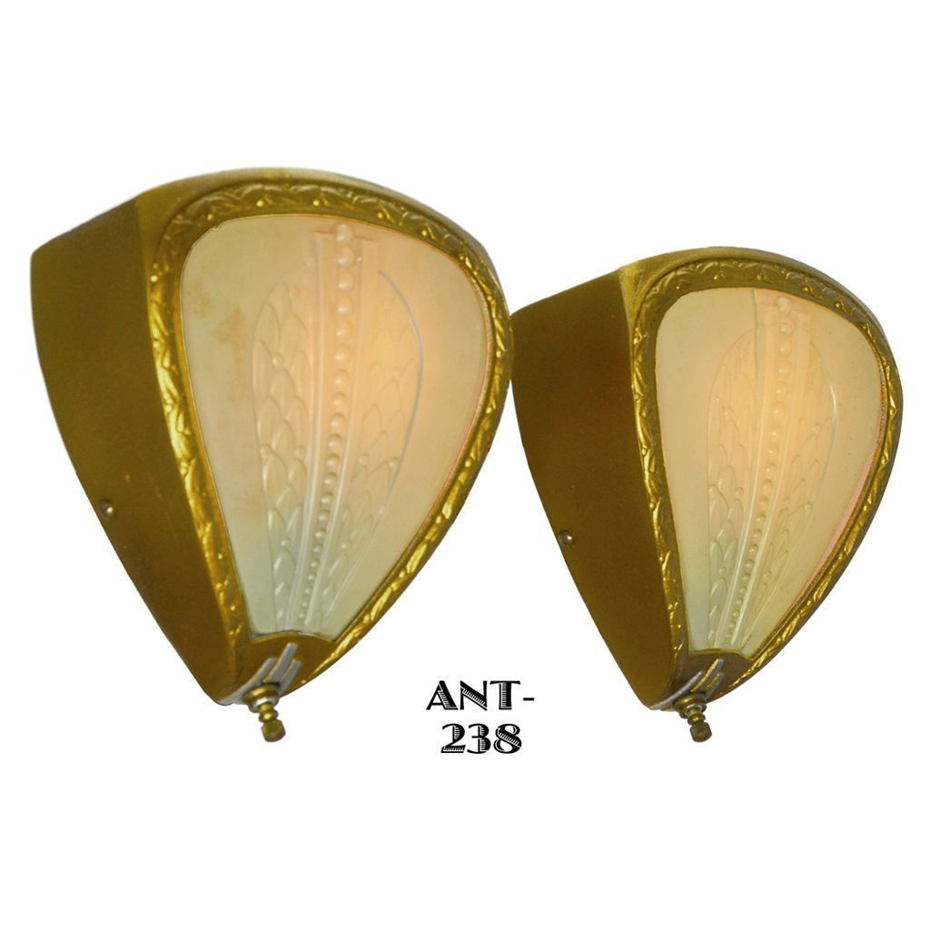 Lovely Pair of Circa 1930 Wall Sconces (ANT-238)   Doors & Light ...
