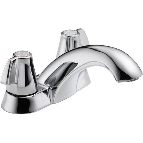 Delta 2500LF Classic Two Handle Centerset Lavatory Faucet - Less Pop ...