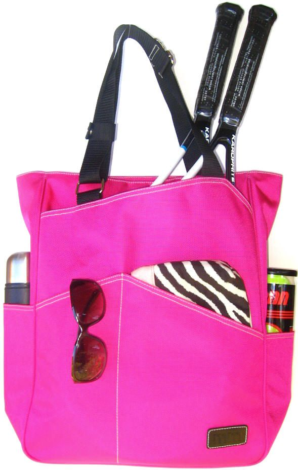 Slamglam Maggie Mather Hot Pink Tennis Tote Bag The Is Light Weight And Water Repellent Arrive To Courts In Style
