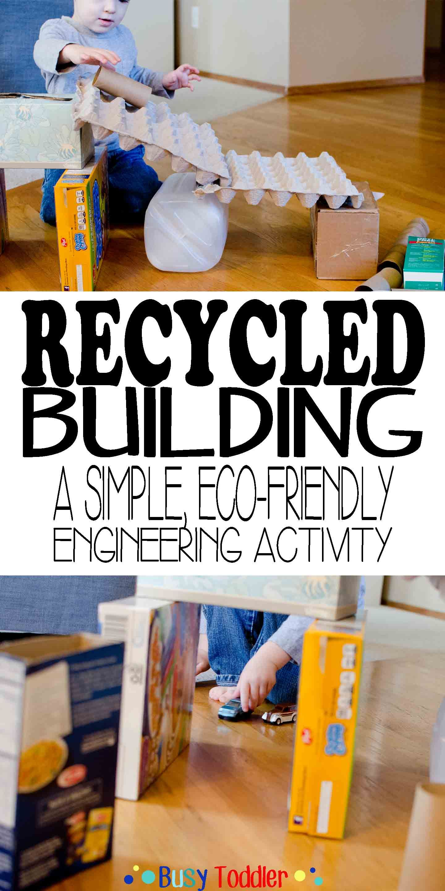 Recycled building stem activity activities earth and for Eco building supplies