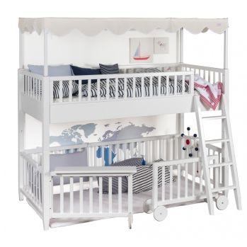 Umbaubares Hoch & Spielbett für Jungen Ikea kura bett