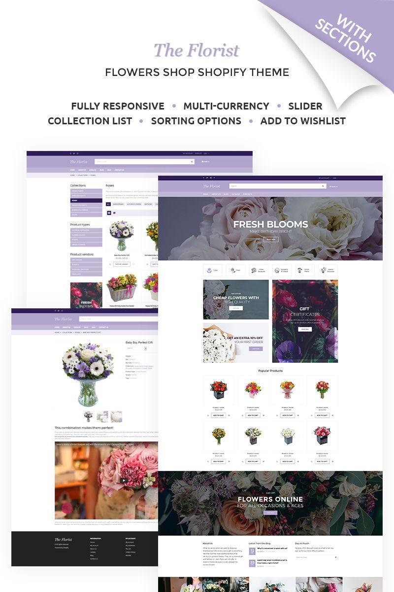 The Florist - Flower Shop Shopify Theme #67531