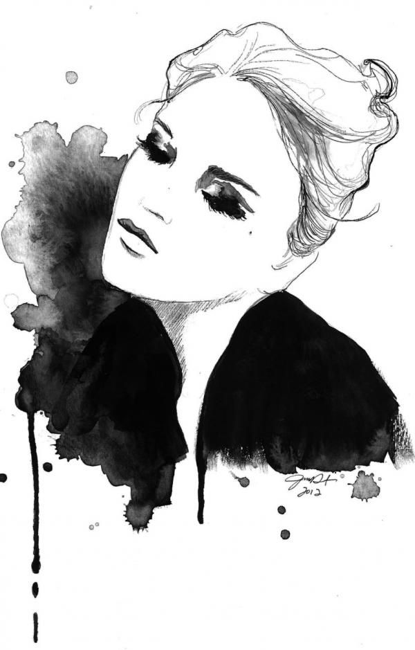 Fashion illustration - stylish & arty, fashion drawing // Jessica Durrant