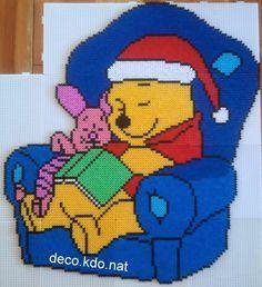 Christmas Winnie and Piglet hama perler beads by Deco.Kdo.Nat