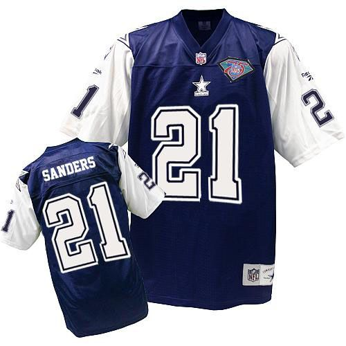 newest 2f2ac 101f7 Mitchell And Ness #21 Deion Sanders Authentic Navy Blue ...