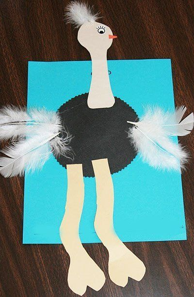 OSTRICH Fun And Easy Summer Crafts For Toddlers Preschoolers Make BIRDS Artsandcraftsfortoddlers