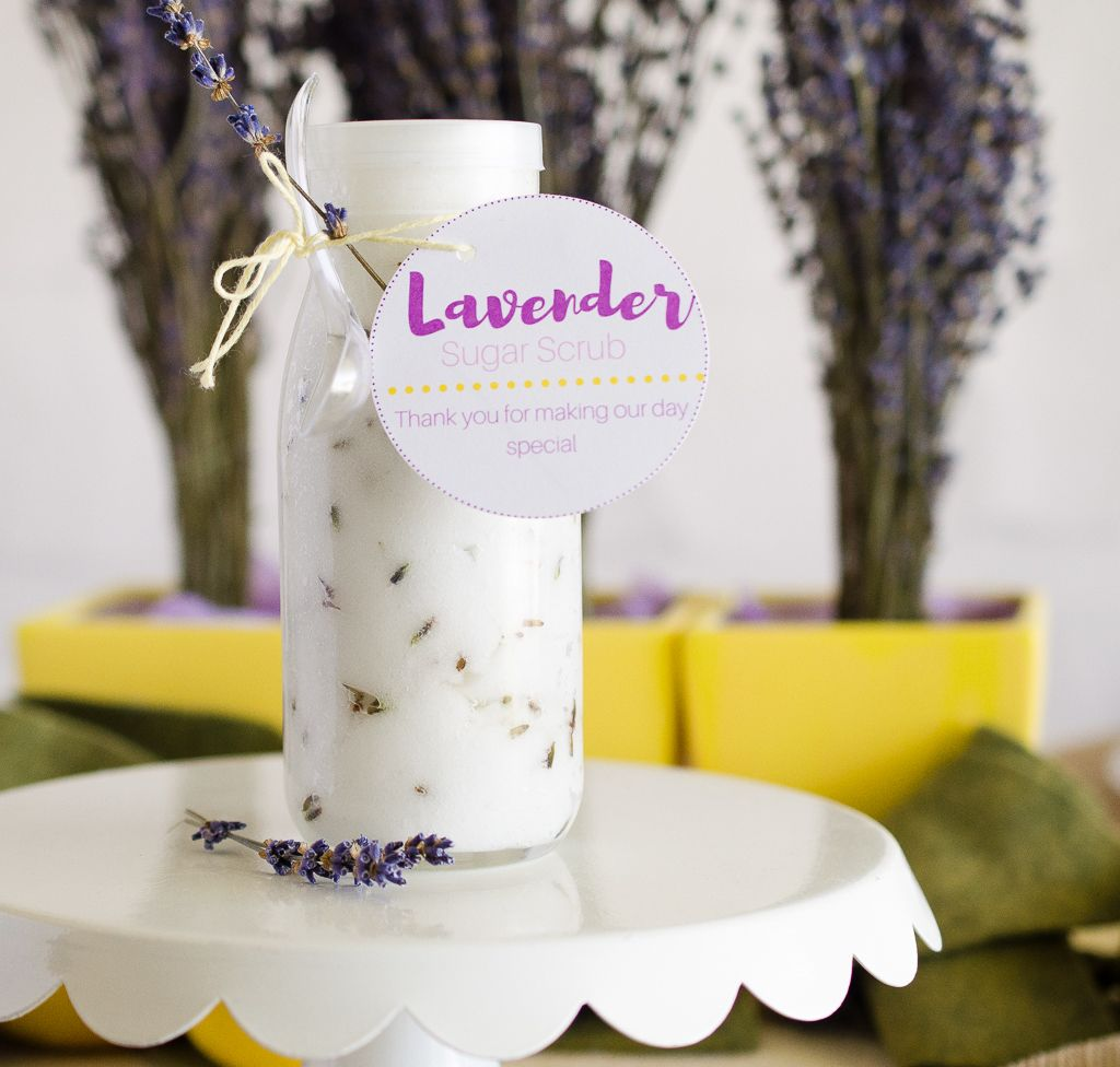 Make This-Lavender Sugar Scrub Wedding Favor | Lavender sugar scrub