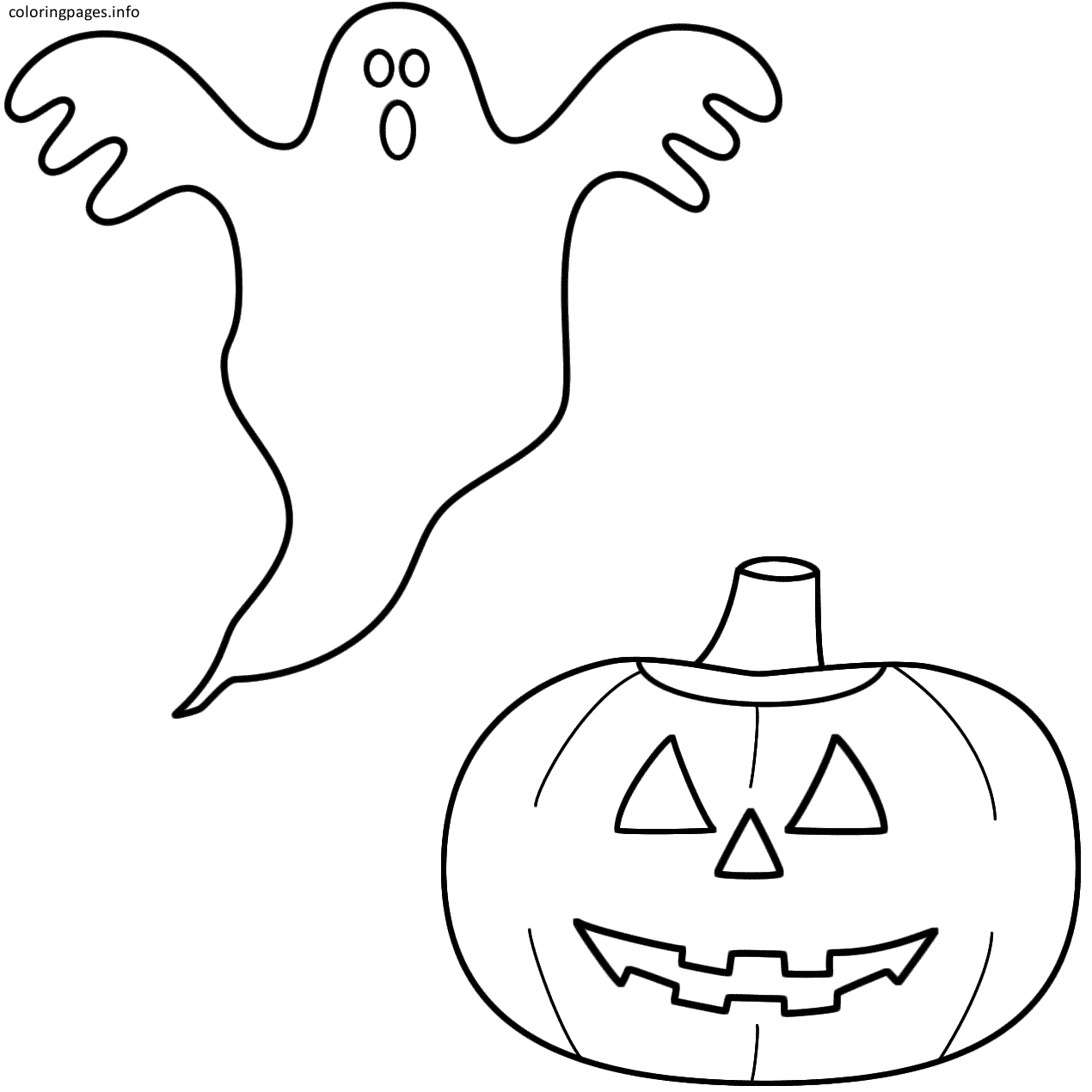 Pumpkin And Ghost Coloring Pages Pumpkin Coloring Pages Coloring Pages Cartoon Coloring Pages