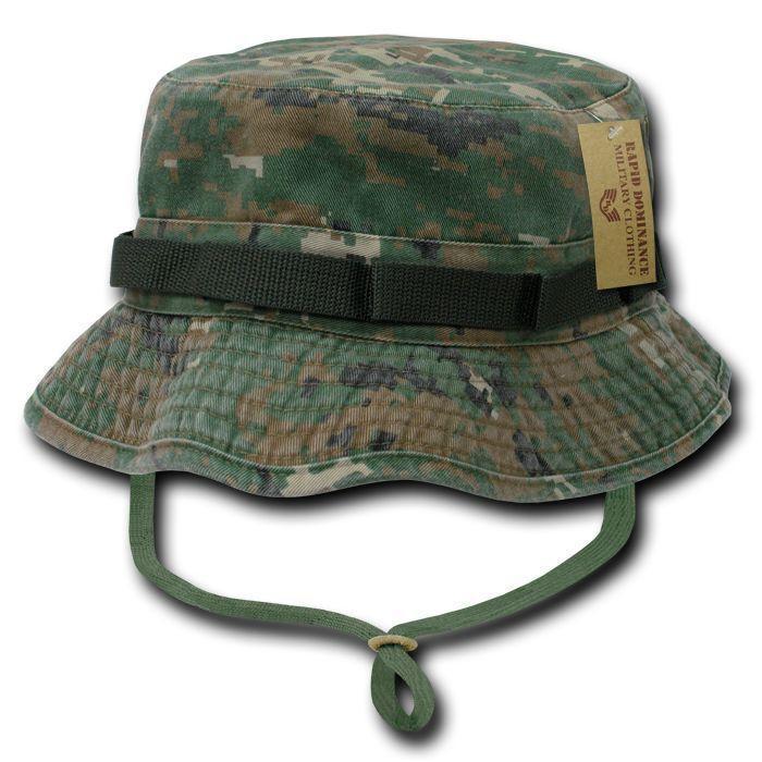 Acu Camouflage Od Boonie Bucket Military Fishing Hunting Rain Hats Caps 9c0850bd7569