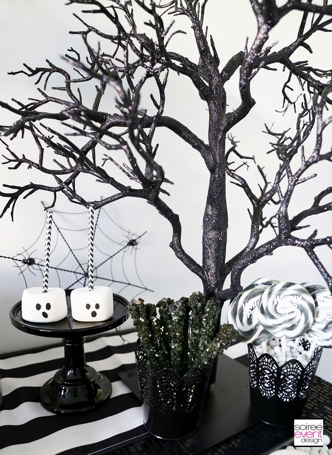 Boo Black And White Halloween Party White Halloween Party Black Party Decorations Black And White Party Decorations