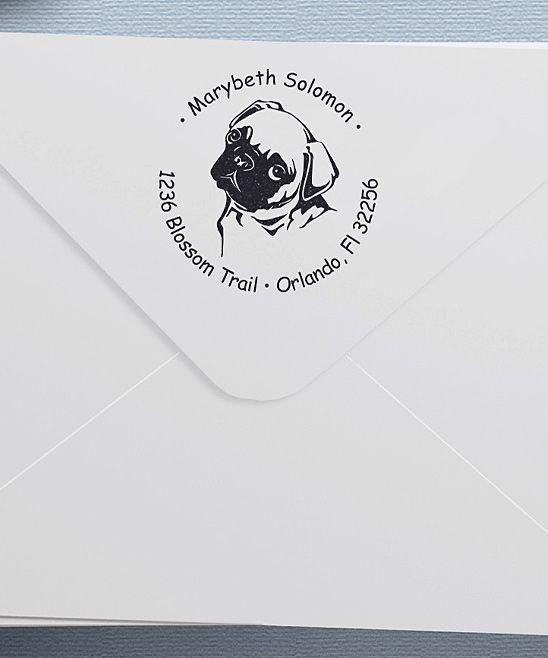 Pug Face Personalized Return Address Stamp