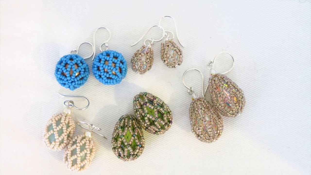 Netted Teardrop Bead Weaving Tutorial Youtube Bead Weaving