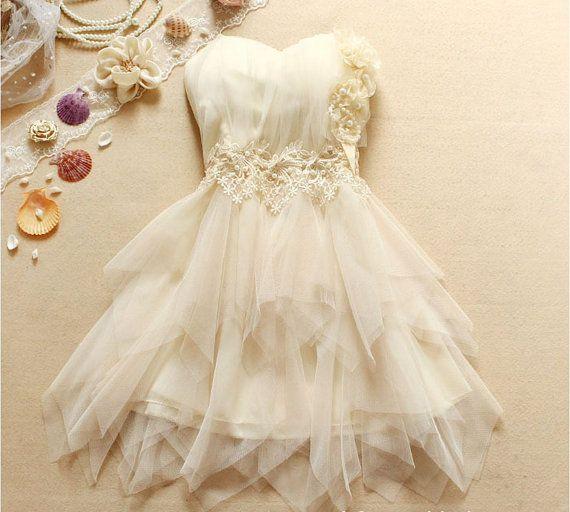 Homecoming dress Flower touches Sleeveless di KoreanFashionBuy