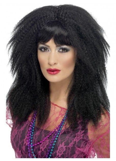 Adult Ladies 80s Mullet Rock Diva Wig Punk Rocker Music Fancy Dress Accessory