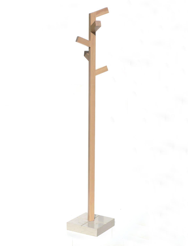perchero de pie moderno de madera organica 2 insilvis - Perchero De Madera