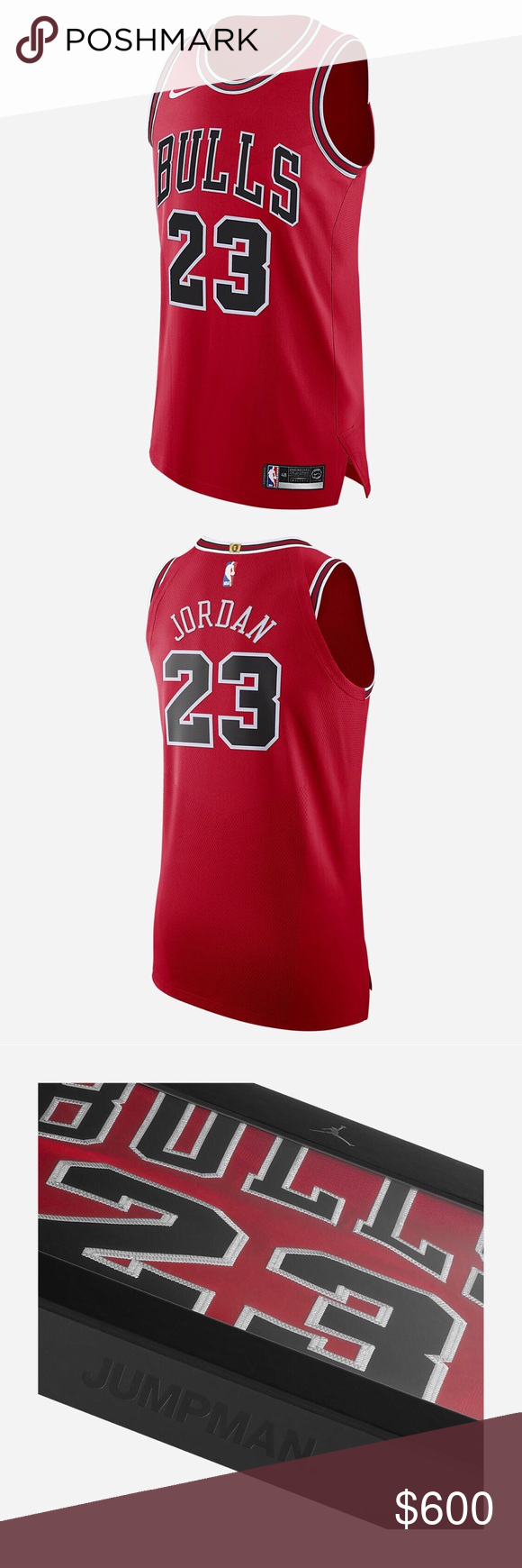pretty nice 06fff c8c4f Nike Michael Jordan Icon Edition Authentic Jersey Men's Nike ...