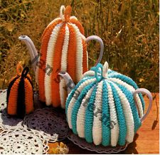 Retro Tea Egg Coffee Pot Cosy Cosies Knitting Pattern S