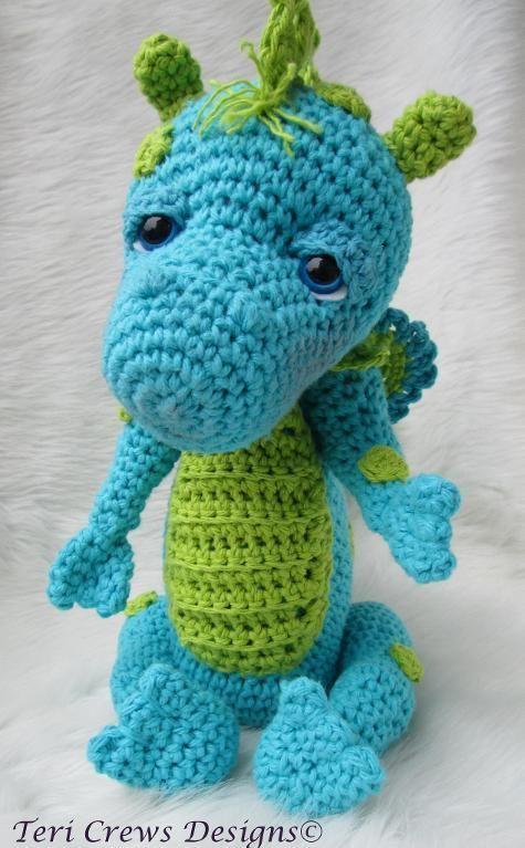 Cute Dragon Crochet Pattern Pinterest Dragons Crochet And Nice