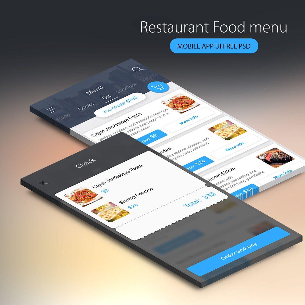 p>Download Restaurant Food menu Mobile App UI Free PSD. Clean and ...