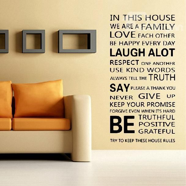 Amazing English Family Poem Print Wall Stickers | Wall sticker, Poem ...