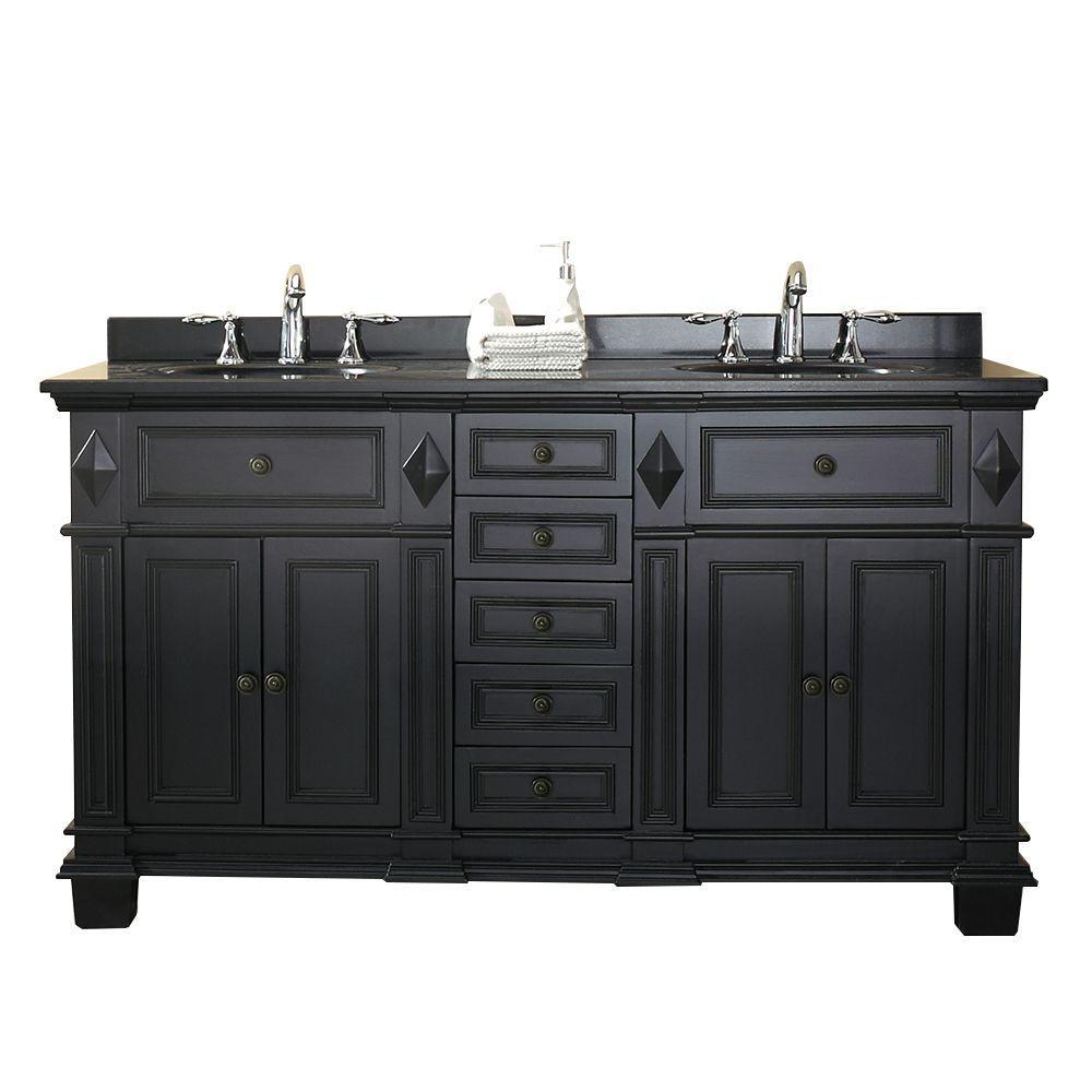 Ove Decors Essex 60 In W X 21 In D Vanity In Antique Black With