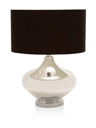 Uma Glass Metal Table Lamp Silver Black Short Table Lamp Lamp Elegant Table Lamp