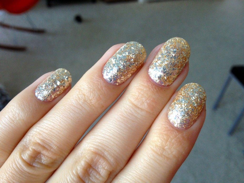 Glitter Gel Nail Polish Gold Glitter Gelicure Nail