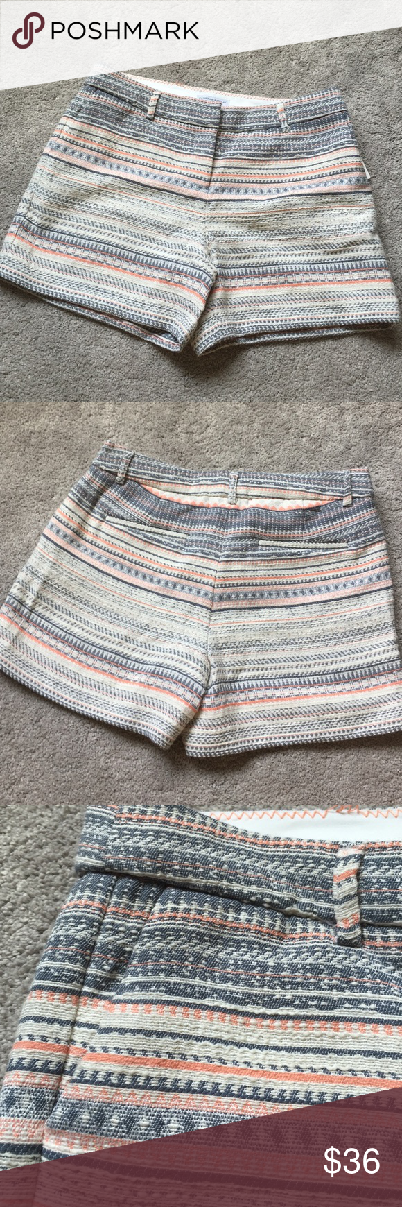 "Last chance!! Katherine Barclay Textured Shorts 16"" waist, 4.5"" inseam. Stitching on inside back coming off. Priced accordingly. Shorts are in excellent condition. Brand new. Katherine Barclay Shorts"