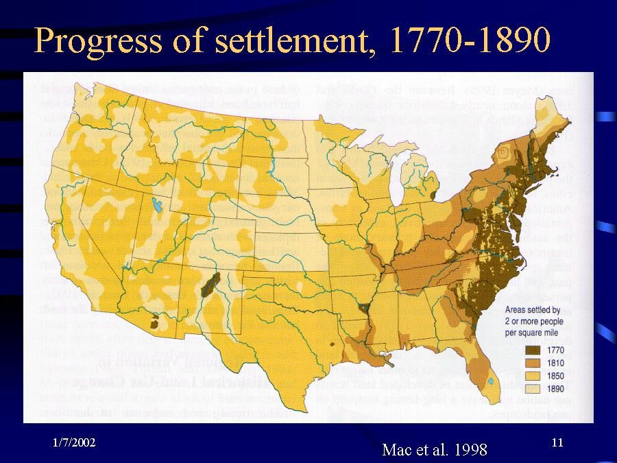Human Settlement In USA Very Interesting Map For - Us ne map
